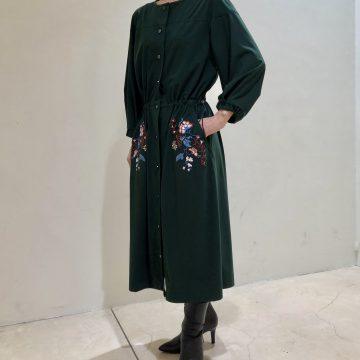 PEONY EMBROIDERY JERSEY DRESS のご紹介